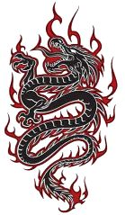 Tribal Dragon Tattoos Designs Art Pictures Images Photos Ink Flash 13