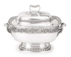 AN AMERICAN SILVER SOUP TUREEN AND COVER, TIFFANY & CO., NEW YORK, CIRCA 1885
