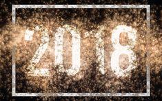 Scarica sfondi Felice Anno Nuovo, 2018 concetti, fuochi d'artificio, luce, Nuovo Anno 2018