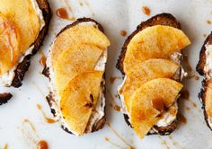 Caramalized Apple Tartines #MyVeganJournal