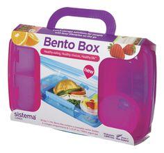 Neem je lunch, je vieruurtje en een stukje fruit overal met je mee in deze praktische roze lunchbox Bento Box van Sistema.