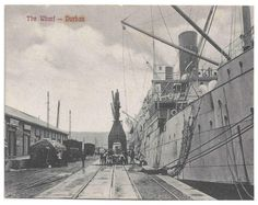 Durban The Wharf South African Railways, Durban South Africa, Those Were The Days, African History, Afrikaans, Genealogy, Old Photos, Cities, Tourism