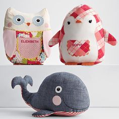 love the denim whale - cute  pieced plush toy