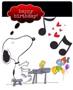 Dance to the music with Snoopy for YOUR birthday wishes. Happy Birthday Quotes For Friends, Happy Birthday Parties, Happy Party, Happy Birthday Images, Happy Birthday Greetings, Birthday Messages, Birthday Pictures, Friend Birthday, Birthday Fun