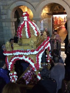 Good Friday and the whole village follows the litany (procession) of the epitaph.