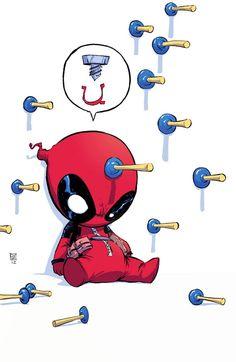 """Les """"Baby Super Heroes"""" de l'illustrateur Skottie Young, des versions mignonnes à croquer de nos super héros favoris, des X-Men aux 4 Fantastiques en passant"""