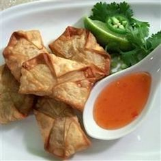 Spicy Chicken and Cilantro Wontons - Allrecipes.com