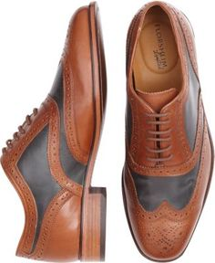 6a6fa42f48cdfd Florsheim Cognac Wingtip Lace-Up Shoes - Men s Dress Shoes