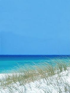 Gulf of Mexico, blue sky and white sands , Florida.