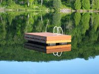 This shot brings back some awesome childhood memories - would love to rent a cottage with a raft just like this one! #indigo #perfectsummer