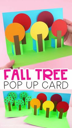 Best 12 Fall Pop Up Tree Card – Easy Paper Craft for Kids! Celebrate the colors of fall with this simple pop up tree card. Easy paper craft for kids to make. Find more fun fall crafts for kids and fun pop up card crafts for Christmas and year round on our Pop Up Art, Arte Pop Up, Paper Crafts For Kids, Fun Crafts, Card Crafts, Simple Paper Crafts, Decor Crafts, Plate Crafts, Tree Crafts