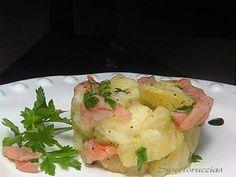Insalata di patate con salmone affumicato al limone