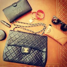 4fdedb258ee843 #Chanel wallet in our Chanel #Flap! Happy Wednesday! Chanel Wallet, Happy