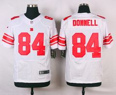 York Giants #84 Larry Donnell White Road NFL Elite Jersey