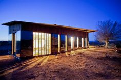 Nakai House:  A cabin of 745 square feet, set in the Navajo Nation, made with recycled materials at a cost of $25,000 (Utah)