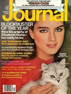 Brooke Shields covers Ladie's Home Journal, July 1981. Photograph by Patrick Demarchelier.