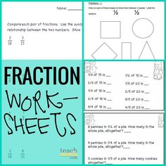 Fraction Worksheets - Teach Junkie