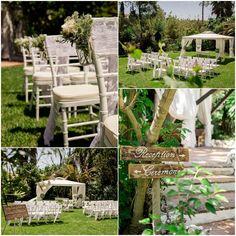 Romantic outdoor wedding ceremony in Spain