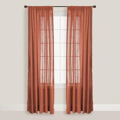 One of my favorite discoveries at WorldMarket.com: Paprika Bloomfield Curtain