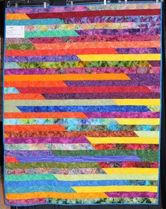 119W - JELLY ROLL 1600 QUILT by Audrey N. by North Star Quilt Guild, via Flickr