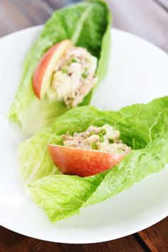 Apple & Tuna Salad in Lettuce Boats | 37 Whole30 Recipes That Everyone Will Love