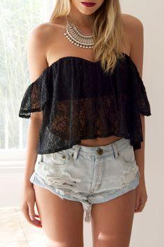 Black lace is always a good idea ✔ Jolene Top from http://styleaddict.com.au/clothing-en/tops/black-jolene-lace-top.html