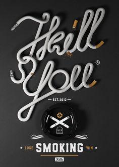 letras formadas por cigarrillos // Smoking  2012