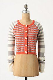Looking at this anthro sweater I'm wondering if I could combine two thrift store sweaters in a similar fashion.
