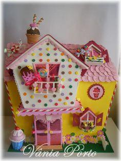 Foam Sheet Crafts, Foam Crafts, Easy Gingerbread House, Christmas Jesus, Foam Sheets, Felt Diy, Cloth Bags, Play Houses, Paper Piecing