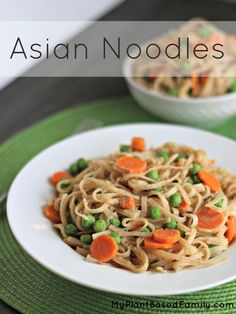 This Asian Noodles recipe is perfect for people with limited time and cooking skills. It is peanut-free and gluten-free and will accommodate food allergies.
