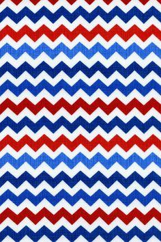 Red, white, blue chevron