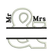 Wedding Anniversary Embroidery Design Mr And
