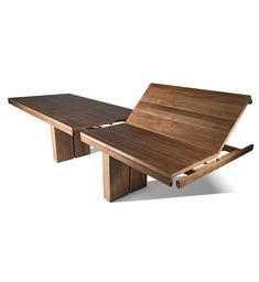 Teak Double Extendable Dining Table