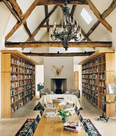 British writer Bella Pollen's converted old barn in the English countryside.