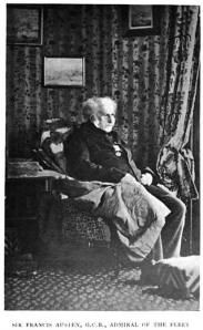 Photograph of Francis Austen in old age. One of Jane Austen's sailor brothers.