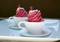 Hibiscus Tea Cupcakes with Lemon Hibiscus Tea Frosting