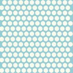 Birch MOD Basics Dottie Aqua/White Polka Dot by seelovestitch, $21.00