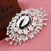 Silver Plated Eye Pattern Flower Brooch – EUR € 4.59