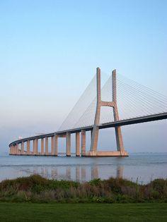 Vasco da Gama bridge over Tejo, Lisbon, Portugal