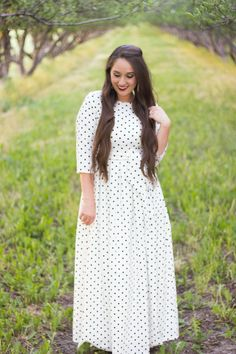 Modern Modesty - For the Joy of Life. Dainty Jewell's Maxi-Length Serendipity Dress.