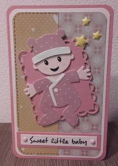 × - Crafts for Kids Baby Crafts, Crafts For Kids, Baby Shower Invitaciones, Baby Shower Cards, Marianne Design, Baby Design, Cute Cards, Doll Patterns, Scrapbooking