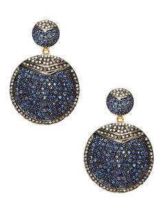 https://www.bkgjewelry.com/sapphire-ring/444-18k-yellow-gold-diamond-blue-sapphire-cocktail-ring.html Amrapali pave sapphire and diamond earrings