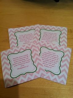 Free Printable Bible Verses in a very cute pink and green chevron design!