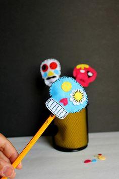 Sugar Skull Pencil Toppers
