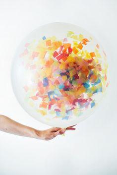"""36"""" Balloon: Clear + Confetti"""