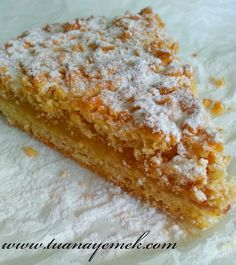 TUANA MUTFAK: MARMELATLI TART Cake Recipes, Dessert Recipes, Desserts, Mini Cheesecakes, Pudding Cake, Turkish Recipes, Let Them Eat Cake, Cake Cookies, Yummy Cakes