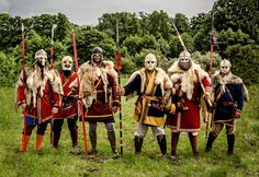 """Woden's Warriors by Ron Lines, from Wulfheodenas. These are pagan anglo-saxon reenactors. Bear in mind that the pagan germanic people, and the norse """"viking"""" people, were virtually one and the same people, with the same culture, philosophy, and law system. The destruction of the ancient european societies, came about with the brutal judeo-christian-islamic terrorism, against our people! Woden is the germanic/saxon name for Odin."""