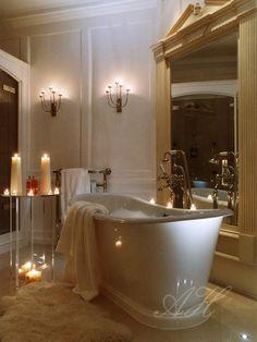 Love the bathtub!!! Bedroom Interior Designs & Bathroom Interior Designs - April