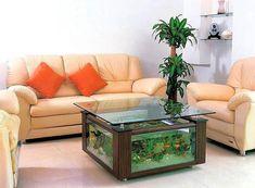 aquariums and large fish tanks and room furniture