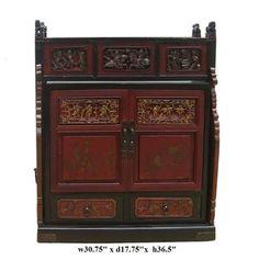 Chinese Vintage Fujian Wedding Chest Side Table FS785 | eBay